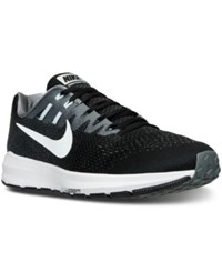 Nike Men's Air Zoom Structure 20 Running Sneakers From Finish Line Black White Cool Grey