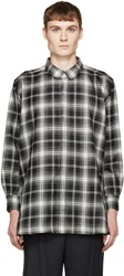 Kidill Black And White Plaid Flared Shirt