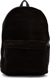Ann Demeulemeester Black Suede Small Backpack