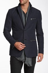 Star Usa By John Varvatos Zip Accent Blazer Blue