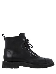 Giuseppe Zanotti 20Mm Leather Ankle Combat Boots