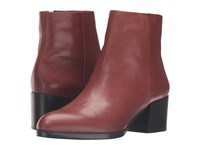 Sam Edelman Joey Burnt Umber Modena Calf Leather Women's Zip Boots Brown