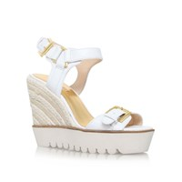 Nine West Aprilshower High Wedge Heel Sandals White