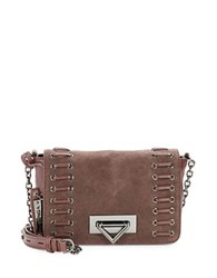 Via Spiga Amina Suede Accented Leather Crossbody Oxblood