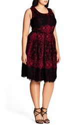 City Chic Plus Size Women's Royale Lace Fit And Flare Dress