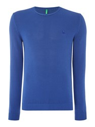 United Colors Of Benetton Basic Cotton Knitted Jumper Blue