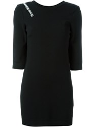 Blumarine Embroidered Open Back Knitted Blouse Black