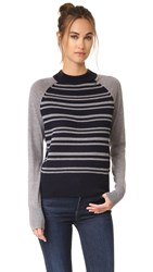 Dkny Pure Striped Pullover Classic Navy Flint
