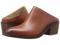 Steven Faleen Cognac Leather Women's Clog Shoes Brown