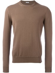 Malo Crew Neck Pullover Brown