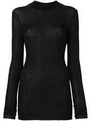 Masnada High Neck Fitted Jumper Black