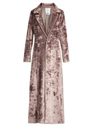 Rosie Assoulin Notch Lapel Velvet Coat Light Purple