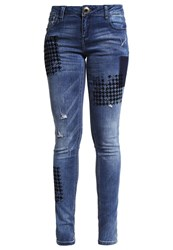 Desigual Dina Slim Fit Jeans Denim Dark Blue Dark Blue Denim