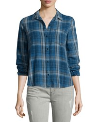Current Elliott The Workwear Slim Boy Shirt Abbot Plaid
