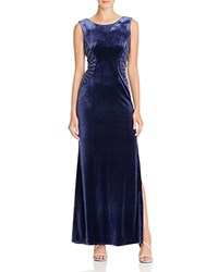 Laundry By Shelli Segal Embellished Velvet Gown Midnight