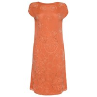 Circa Vintage 1920S Beaded Peach Flapper Dress Size 12