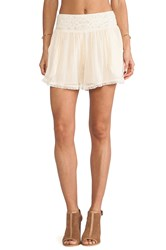 Free People Crochet Mid Rise Short Cream