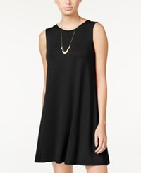 One Clothing Juniors' Sleeveless A Line Swing Dress Black