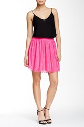 Soprano Lace Mini Skirt Pink