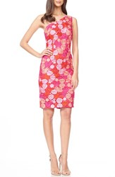 Women's David Meister Embroidered Lace Sheath Dress