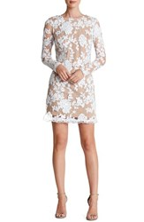 Women's Dress The Population 'Grace' Sequin Lace Long Sleeve Shift Dress