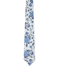 Duchamp Rose Silk Tie White