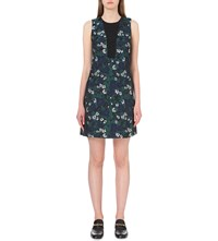 Whistles Pansy Floral Jacquard Dress Multi Coloured