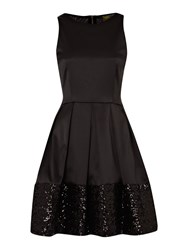 Untold Dress Fit And Flare Black