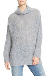 Free People Women's 'She's All That' Knit Turtleneck Sweater Blue