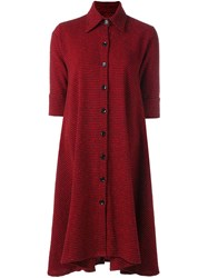 Ultrachic Plaid Classic Collar Dress Red
