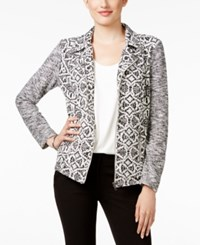 Styleandco. Style Co. Jacquard Zippered Blazer Only At Macy's Neutral Aztec