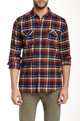 Micros Red Rover Long Sleeve Plaid Shirt Orange
