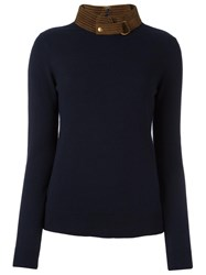 Tory Burch 'Flore' Jumper Blue