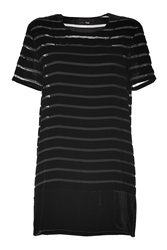 Fendi Black Velvet Striped Dress