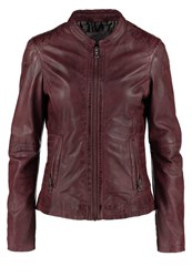 Oakwood Leather Jacket Rouge Fonce Dark Red