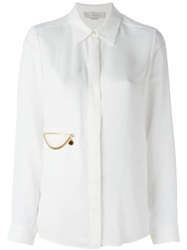 Stella Mccartney Chain Detail Shirt Nude And Neutrals