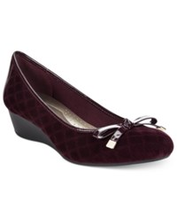 Karen Scott Pippa Casual Wedge Pumps Only At Macy's Women's Shoes Wine