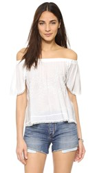 Liv St. Jean Off Shoulder Top Ivory