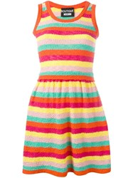 Boutique Moschino Striped Flared Knit Dress