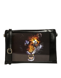 Liquorish Black Tiger Clutch Bag