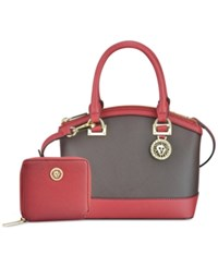 Anne Klein New Recruits Gift Set With French Wallet Chocolate Ruby
