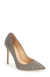 Daya Women's 'Atmore Iii' Pointy Toe Pump Pewter Patent
