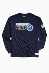 Mitchell And Ness Nyc Football Club Keeping Score Long Sleeve Tee Navy