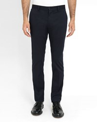 Paul Smith Navy Stretch Cotton Slim Fit Chinos Blue