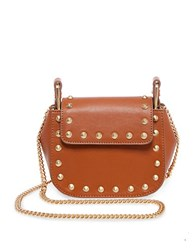 Brian Atwood Ricki Leather Crossbody Bag Saddle