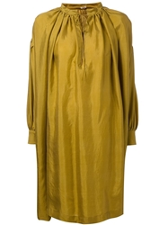 Arts And Science Pleated Dress Yellow And Orange