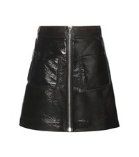 Miu Miu Faux Leather Miniskirt Black