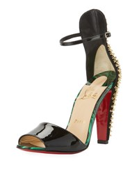 Christian Louboutin Tropanita Spiked Red Sole Sandal Black