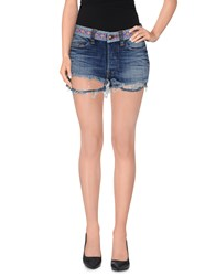 Htc Denim Denim Shorts Women Blue