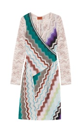 Missoni Patterned Wrap Dress Purple